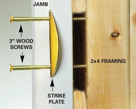hinge reinforcing bolts locksmith